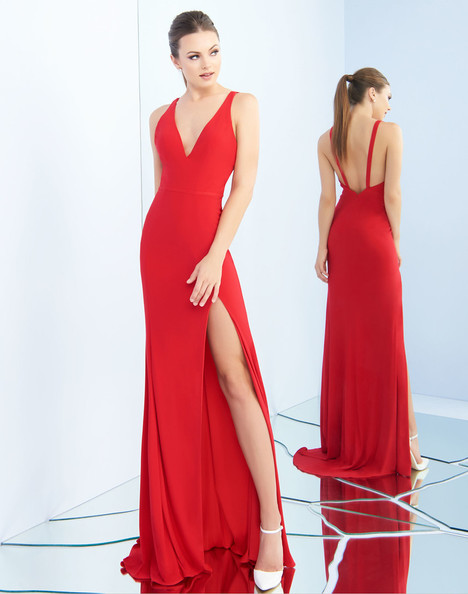 25846i (Red) gown from the 2018 Ieena Duggal collection, as seen on Bride.Canada