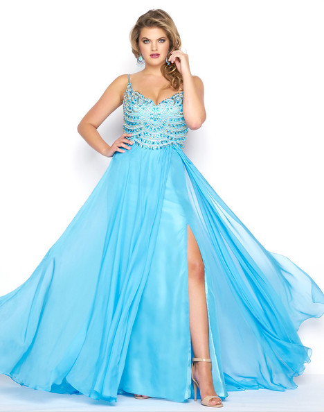 65979F (Ocean Blue) gown from the 2018 Mac Duggal : Fabulouss collection, as seen on Bride.Canada