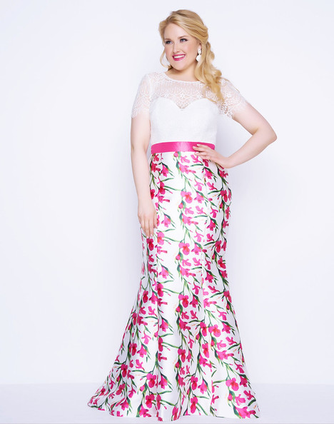 77168F (Pink Floral) gown from the 2018 Mac Duggal : Fabulouss collection, as seen on Bride.Canada