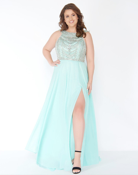 77352F (Blue Cream) gown from the 2018 Mac Duggal : Fabulouss collection, as seen on Bride.Canada