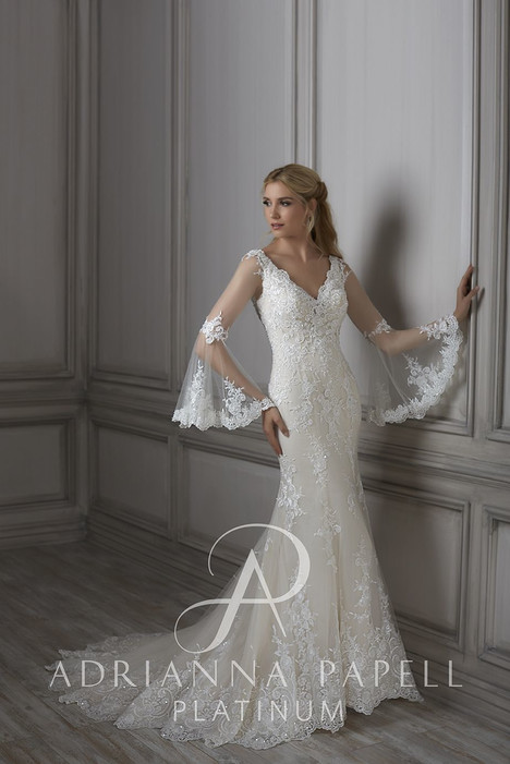 31070 gown from the 2018 Adrianna Papell collection, as seen on Bride.Canada
