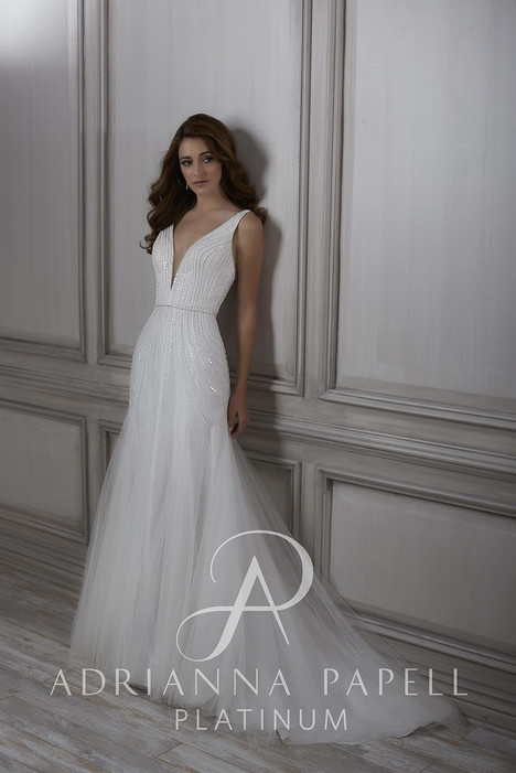 31071 gown from the 2018 Adrianna Papell collection, as seen on Bride.Canada