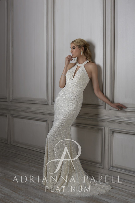 31075 gown from the 2018 Adrianna Papell collection, as seen on Bride.Canada