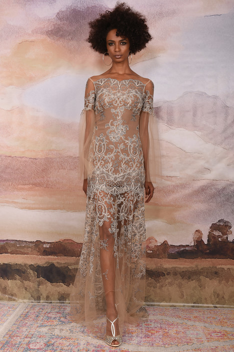 Sahara gown from the 2018 Claire Pettibone: Couture collection, as seen on Bride.Canada