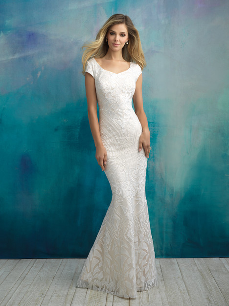 gown from the 2018 Allure Modest collection, as seen on Bride.Canada