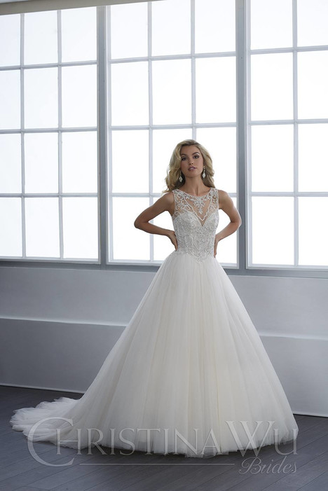 15664 gown from the 2018 Christina Wu collection, as seen on Bride.Canada