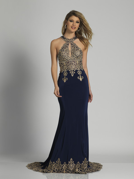 2325 (navy) gown from the 2018 Dave & Johnny Special Occasions collection, as seen on Bride.Canada