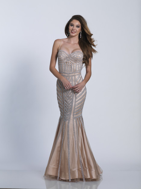 3577b gown from the 2018 Dave & Johnny Special Occasions collection, as seen on Bride.Canada