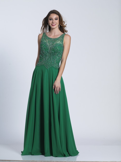 4763 (green) gown from the 2018 Dave & Johnny Special Occasions collection, as seen on Bride.Canada