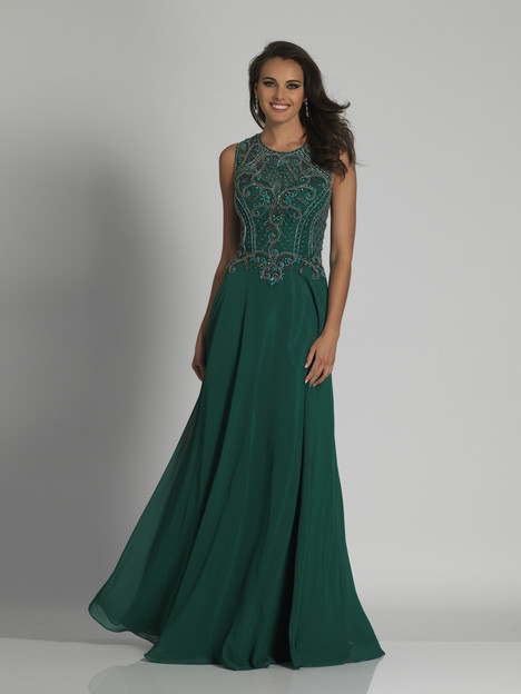 6347 (Emerald) gown from the 2018 Dave & Johnny Special Occasions collection, as seen on Bride.Canada
