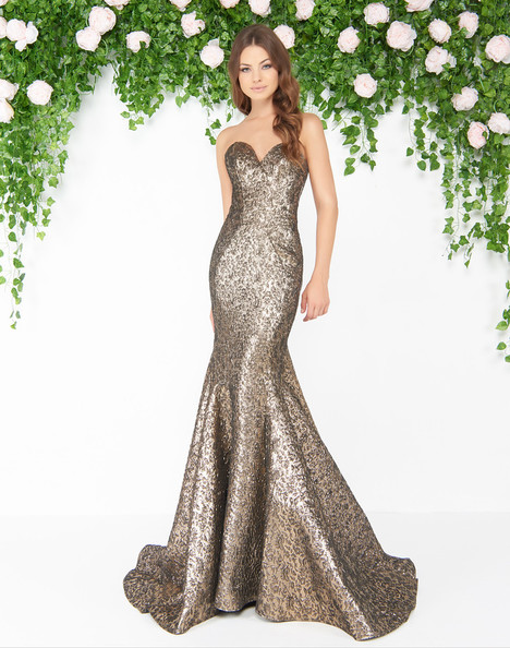 66025D (Antique Gold) gown from the 2018 Mac Duggal : Couture collection, as seen on Bride.Canada