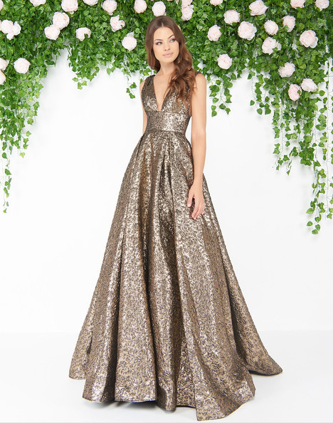 66217D (Antique Gold) gown from the 2018 Mac Duggal : Couture collection, as seen on Bride.Canada