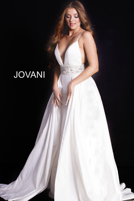 51436 (White) gown from the 2018 Jovani collection, as seen on Bride.Canada