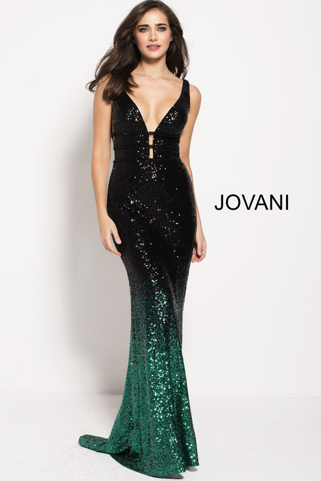 56015 (Green) gown from the 2018 Jovani collection, as seen on Bride.Canada