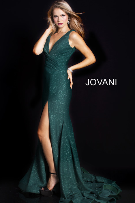 58503 (Green) gown from the 2018 Jovani collection, as seen on Bride.Canada