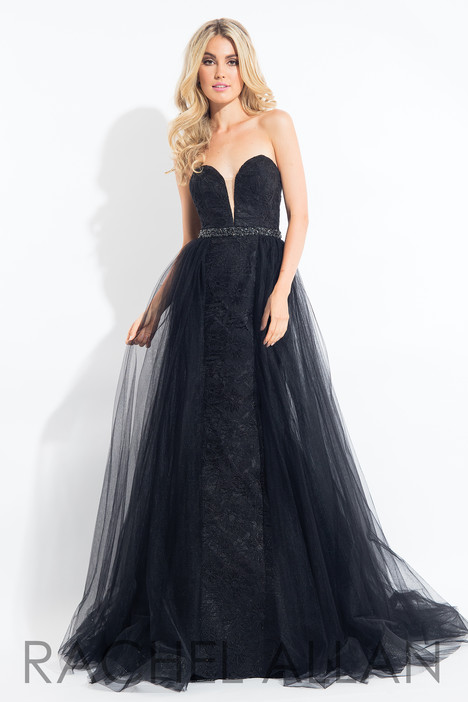6004 (Black) gown from the 2018 Rachel Allan collection, as seen on Bride.Canada