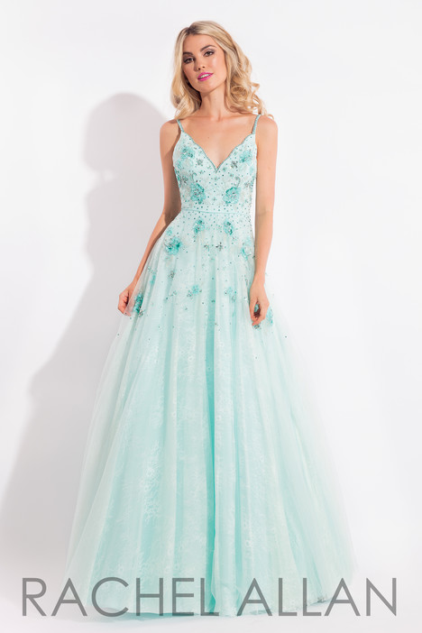 6012 (Turquoise) gown from the 2018 Rachel Allan collection, as seen on Bride.Canada