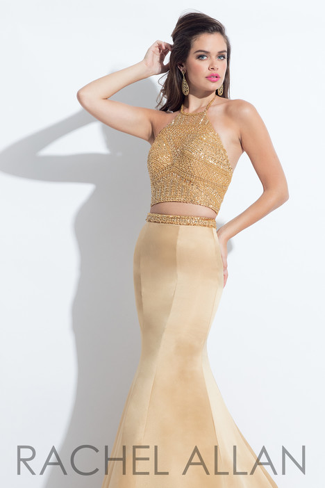 6013 (Gold) gown from the 2018 Rachel Allan collection, as seen on Bride.Canada