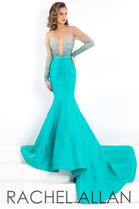5955 (Turquoise) gown from the 2018 Rachel Allan : Prima Donna collection, as seen on Bride.Canada