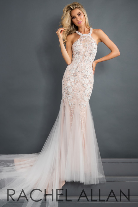 5963 (Champagne) gown from the 2018 Rachel Allan : Prima Donna collection, as seen on Bride.Canada