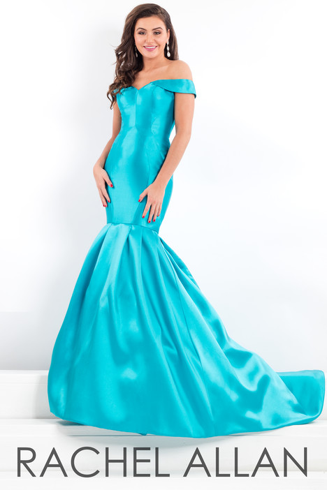 5977 (Turquoise) gown from the 2018 Rachel Allan : Prima Donna collection, as seen on Bride.Canada