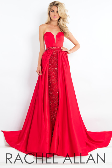 5983 (Red) gown from the 2018 Rachel Allan : Prima Donna collection, as seen on Bride.Canada