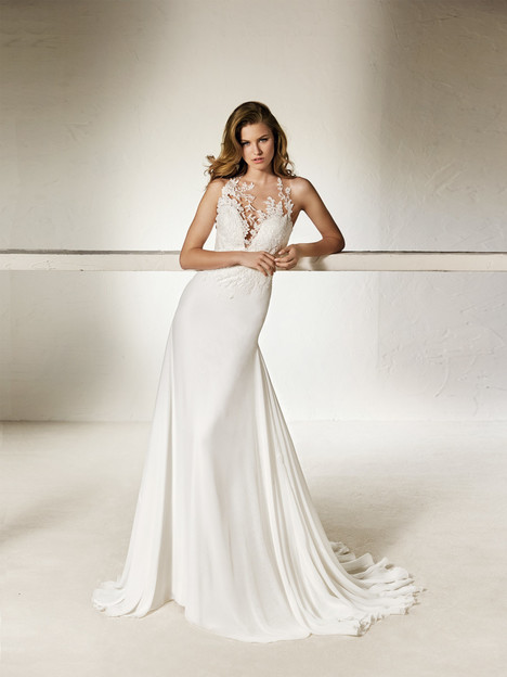 Chalila gown from the 2018 Pronovias One collection, as seen on Bride.Canada