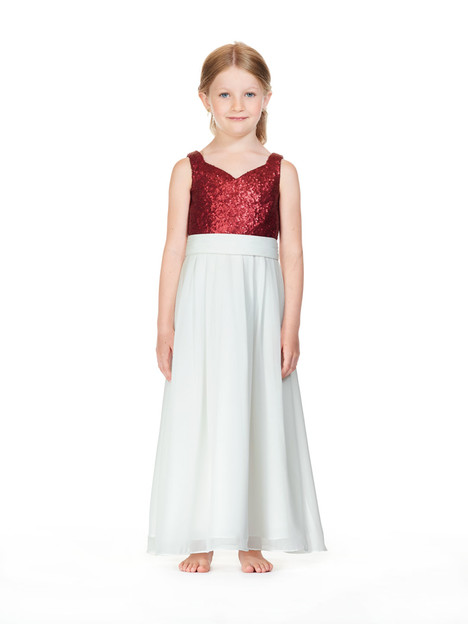 F0218 gown from the 2018 Bari Jay : Flower Girls collection, as seen on Bride.Canada