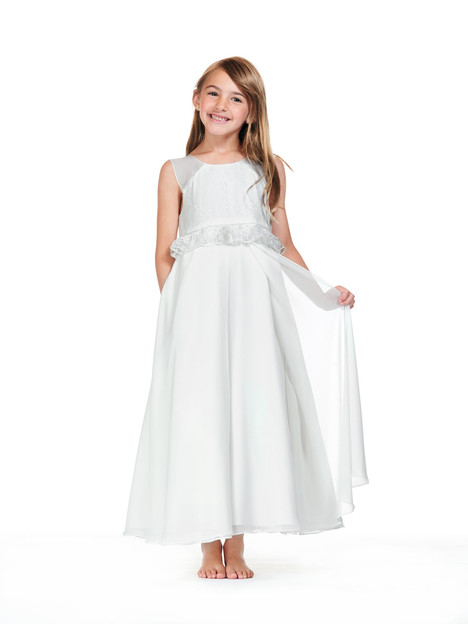 F0818 gown from the 2018 Bari Jay : Flower Girls collection, as seen on Bride.Canada