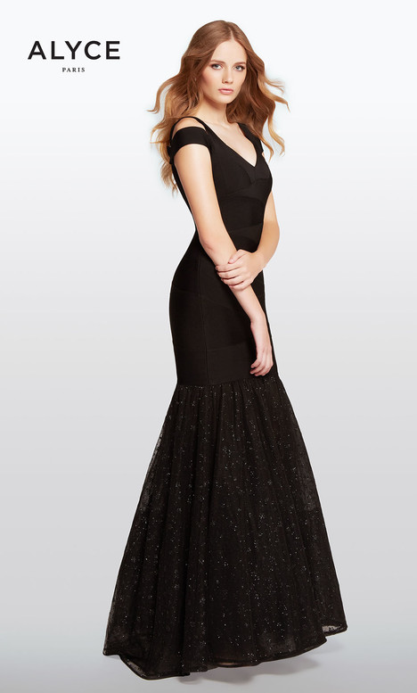 100 (Black) gown from the 2018 Alyce Paris collection, as seen on Bride.Canada