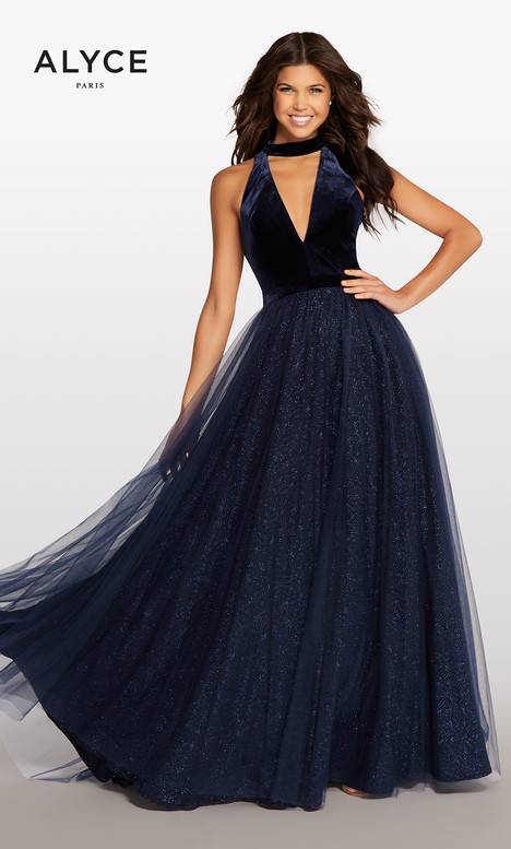 105 (Navy) gown from the 2018 Alyce Paris collection, as seen on Bride.Canada