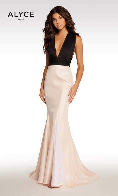108 (Black + Champagne + Pink) gown from the 2018 Alyce Paris collection, as seen on Bride.Canada