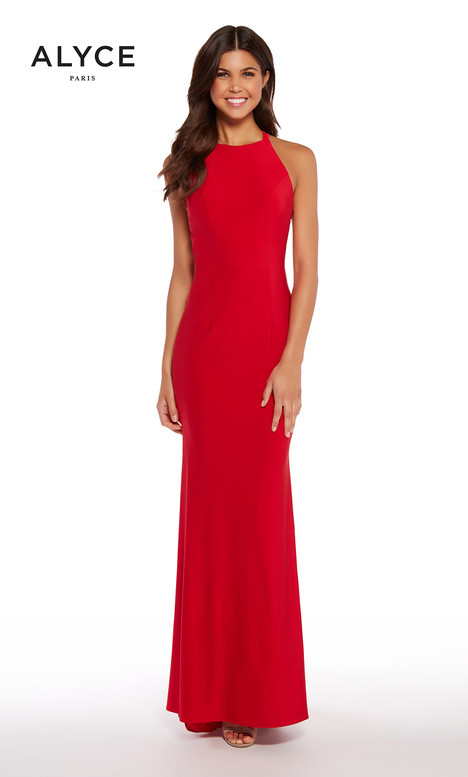 60012 (Red) gown from the 2018 Alyce Paris collection, as seen on Bride.Canada