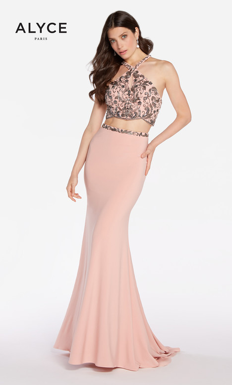 60018 (Pink Charcoal) gown from the 2018 Alyce Paris collection, as seen on Bride.Canada