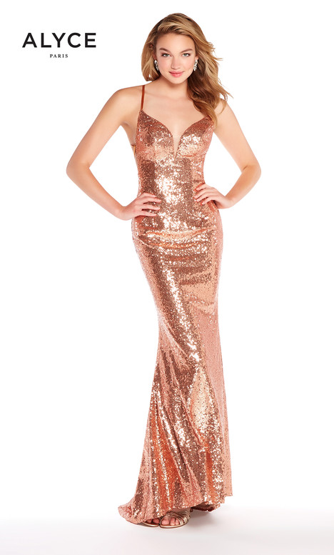 60032 (Rose Gold) gown from the 2018 Alyce Paris collection, as seen on Bride.Canada
