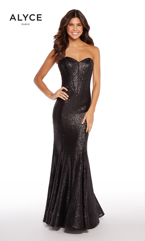 600351 (Black) gown from the 2018 Alyce Paris collection, as seen on Bride.Canada