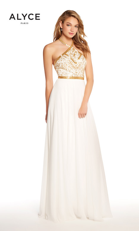 60043 (Diamond White + Gold) gown from the 2018 Alyce Paris collection, as seen on Bride.Canada