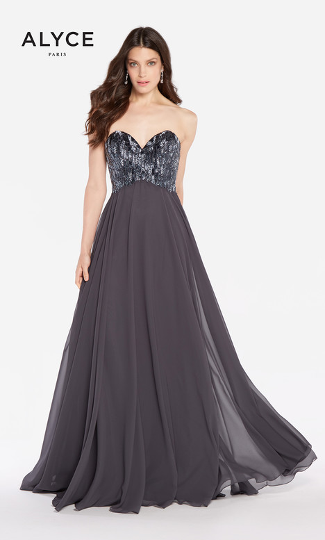 60050 (Charcoal) gown from the 2018 Alyce Paris collection, as seen on Bride.Canada