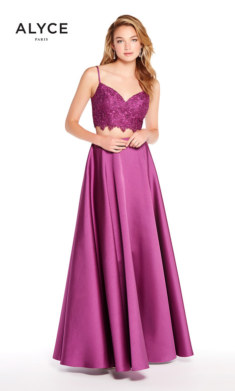 60056 (Aubergine) gown from the 2018 Alyce Paris collection, as seen on Bride.Canada