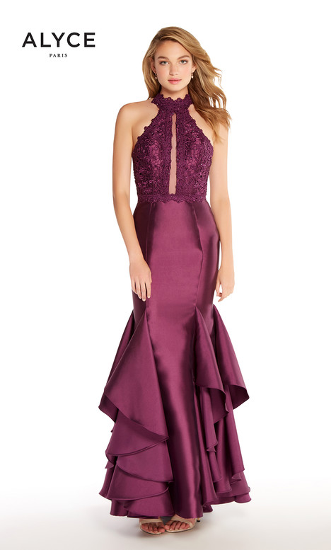 60058 (Aubergine) gown from the 2018 Alyce Paris collection, as seen on Bride.Canada