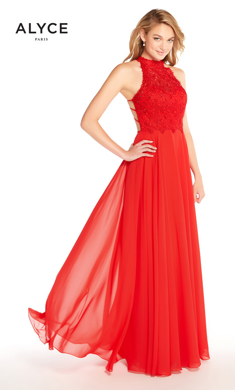 60061 (Red) gown from the 2018 Alyce Paris collection, as seen on Bride.Canada