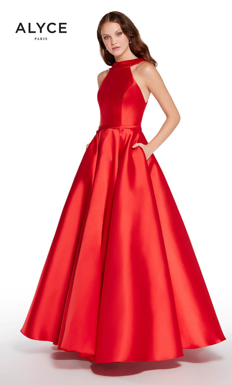600632 (Red) gown from the 2018 Alyce Paris collection, as seen on Bride.Canada