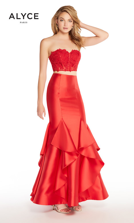 60067 (Red) gown from the 2018 Alyce Paris collection, as seen on Bride.Canada