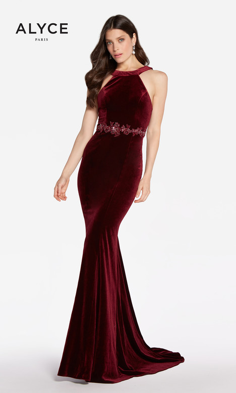 60072 (Wine) gown from the 2018 Alyce Paris collection, as seen on Bride.Canada