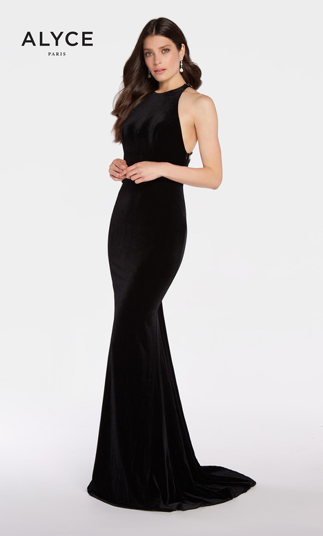 60077 (Black) gown from the 2018 Alyce Paris collection, as seen on Bride.Canada