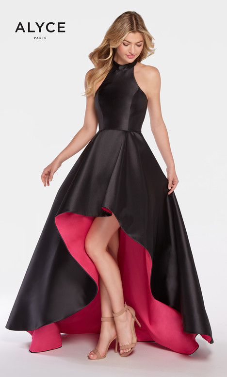 60100 (Black + Fushia) gown from the 2018 Alyce Paris collection, as seen on Bride.Canada