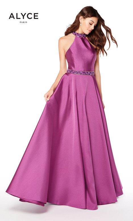 60104 (Aubergine) gown from the 2018 Alyce Paris collection, as seen on Bride.Canada