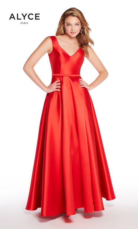 60112 (Red) gown from the 2018 Alyce Paris collection, as seen on Bride.Canada