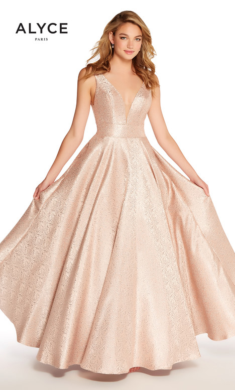 60123 (Blush) gown from the 2018 Alyce Paris collection, as seen on Bride.Canada