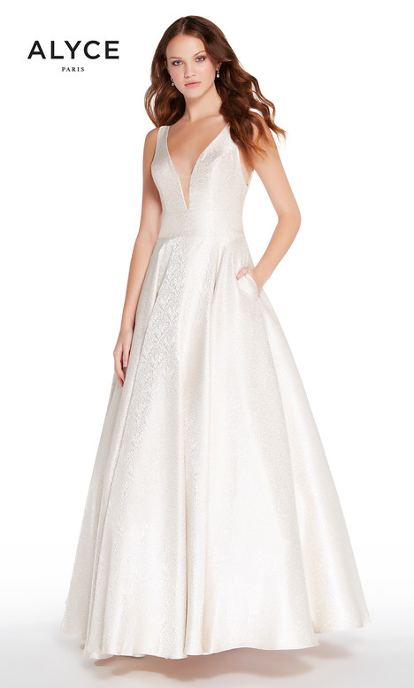 60123 (Champange) gown from the 2018 Alyce Paris collection, as seen on Bride.Canada